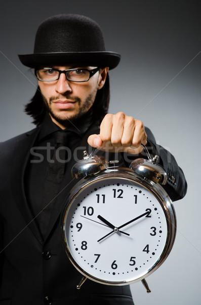 Man klok vintage hoed zakenman Stockfoto © Elnur