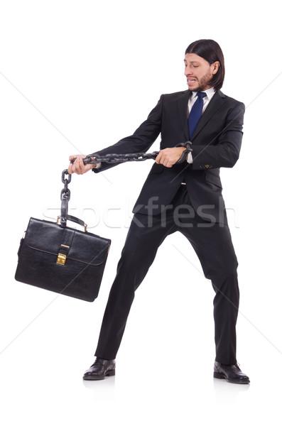 Man keten geïsoleerd blanke man witte business Stockfoto © Elnur
