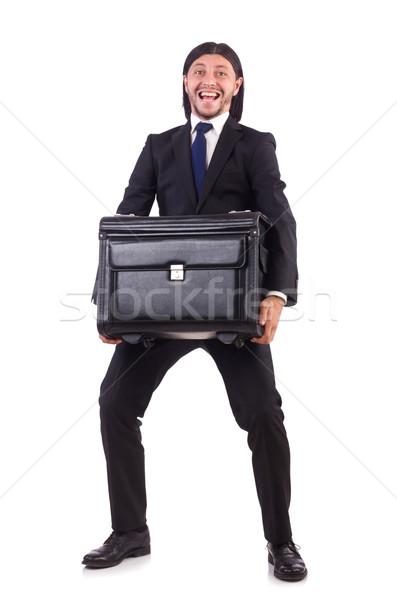 üzletember üzleti út csomagok boldog háttér utazás Stock fotó © Elnur