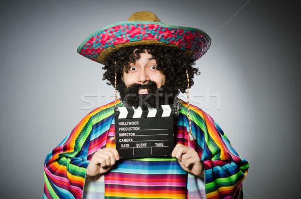 смешные волосатый мексиканских фильма лице кино Сток-фото © Elnur