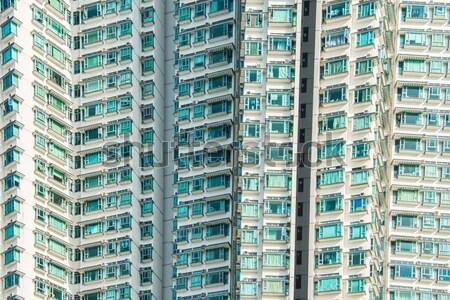 Yerleşim Bina Hong Kong gökyüzü seyahat binalar Stok fotoğraf © Elnur