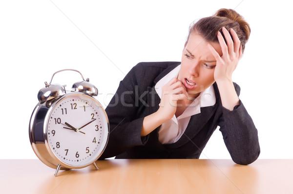 Empresária relógio desaparecido prazos mulher trabalhar Foto stock © Elnur