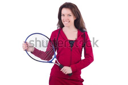 Woman in red costume in sports sporting concept Stock photo © Elnur