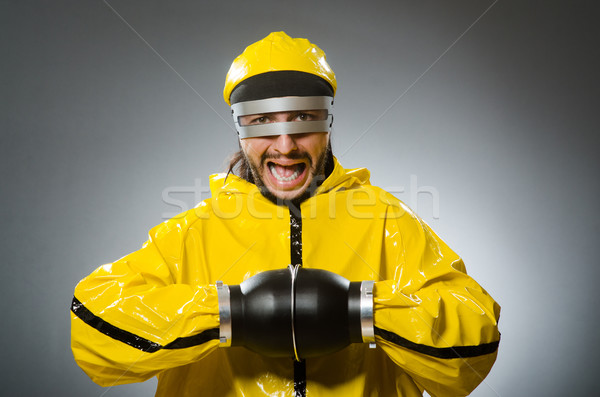 Man wearing metal glasses in techno concept Stock photo © Elnur