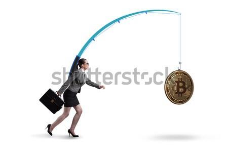 Vrouw student vermist deadlines geïsoleerd witte Stockfoto © Elnur