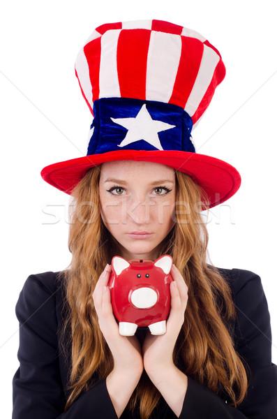 Bonitinho menina americano símbolo seis Foto stock © Elnur