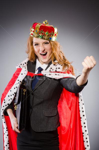 Mulher rainha empresária engraçado trabalhar empresário Foto stock © Elnur