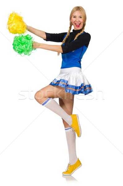 Mulher chefe de torcida isolado branco dança grupo Foto stock © Elnur