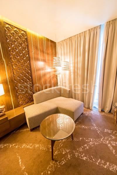 Chambre intérieur modernes meubles design maison Photo stock © Elnur