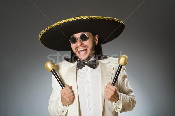 Osoby sombrero hat funny strony Zdjęcia stock © Elnur