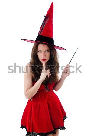 Mujer diablo funny halloween fiesta sexy Foto stock © Elnur