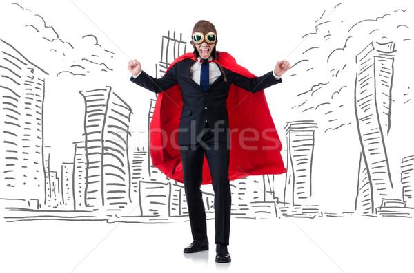 Uomo rosso coprire business sfondo edifici Foto d'archivio © Elnur