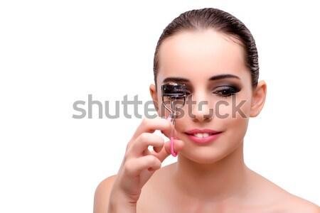 красивая женщина ювелирных моде лице фон каменные Сток-фото © Elnur