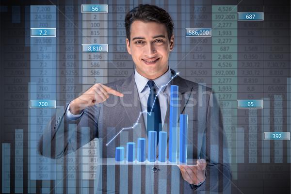 Mann hat Handel Geschäftsmann Business Geld Stock foto © Elnur