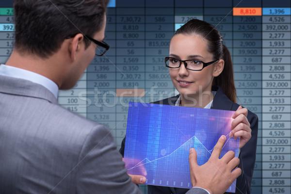 Ludzi biznesu czas wykres kobieta Zdjęcia stock © Elnur