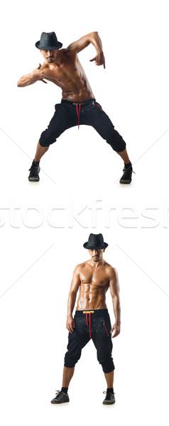 Kollázs táncosok izolált fehér férfi sport Stock fotó © Elnur