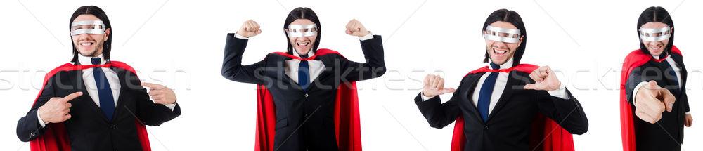 человека красный охватывать изолированный белый Сток-фото © Elnur