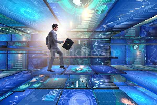Empresario resumen negocios ordenador hombre tecnología Foto stock © Elnur