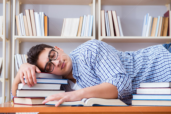 Сток-фото: молодые · студент · перерыва · падение · спящий