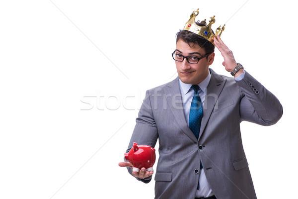王 ビジネスマン 貯金 孤立した 白 ストックフォト © Elnur