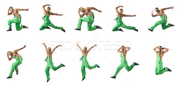 Saltando dança homem construção moda Foto stock © Elnur