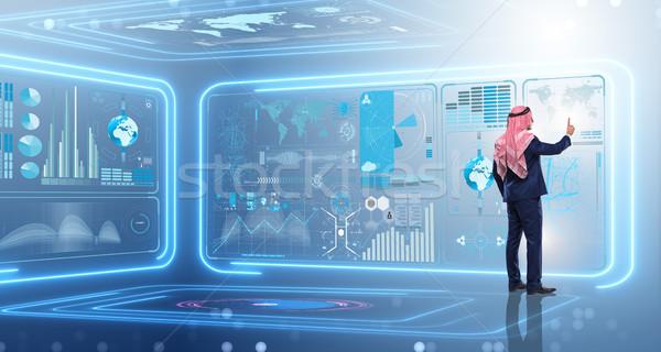 アラブ 男 データ 管理 コンピュータ ビジネスマン ストックフォト © Elnur