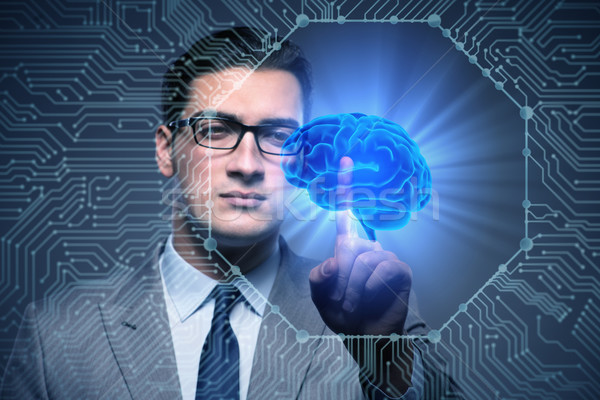 Businessman in artificial intelligence concept Stock photo © Elnur