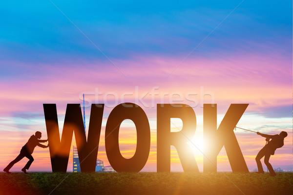 Negócio trabalho duro escritório homem trabalhar empresário Foto stock © Elnur