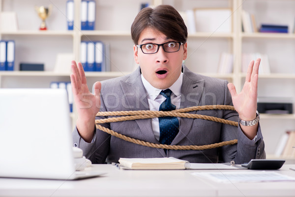 бизнесмен вверх веревку служба бизнеса человека Сток-фото © Elnur