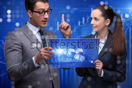 üzletember tart földgömb globális üzlet kezek absztrakt Stock fotó © Elnur