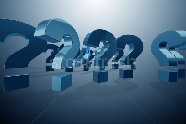 Question marks in uncertainty concept - 3d rendering Stock photo © Elnur