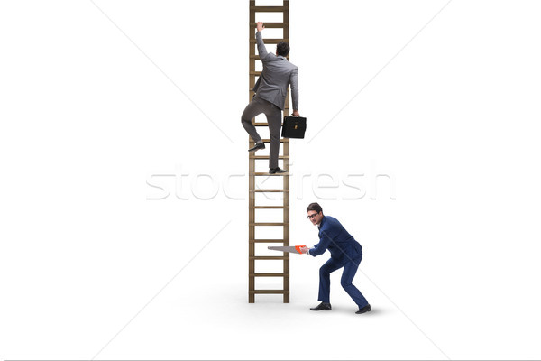 Stock photo: Business unethical competition concept with businessmen