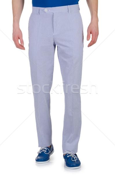 Moda pantaloni bianco modello sfondo jeans Foto d'archivio © Elnur