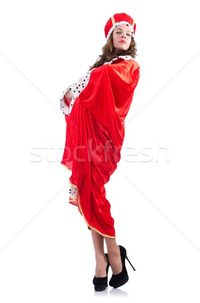 Reina mujer de negocios aislado blanco trabajo empresario Foto stock © Elnur