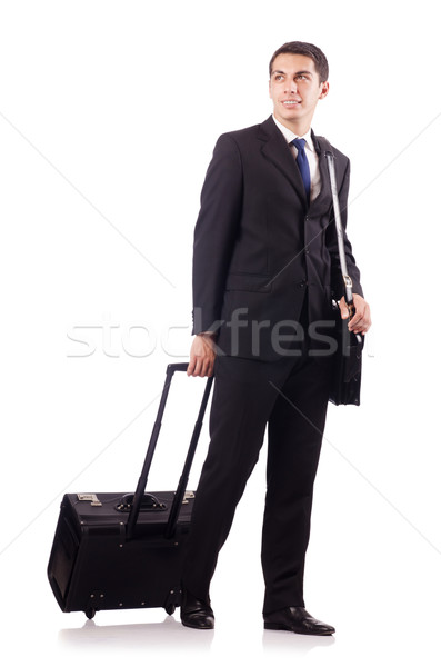 Young businessman during business trip Stock fotó © Elnur