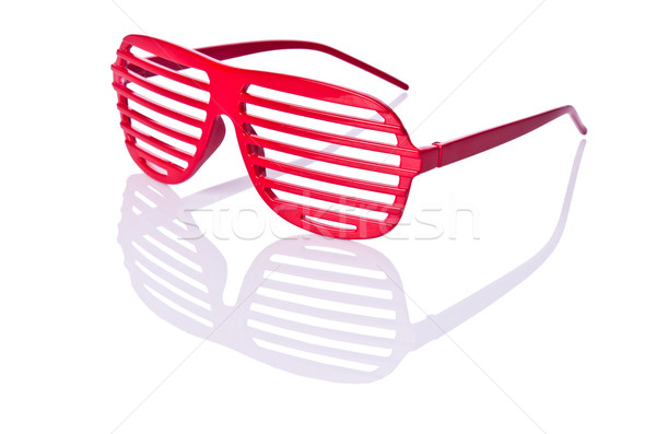Red striped sunglasses isolated on white Stock photo © Elnur