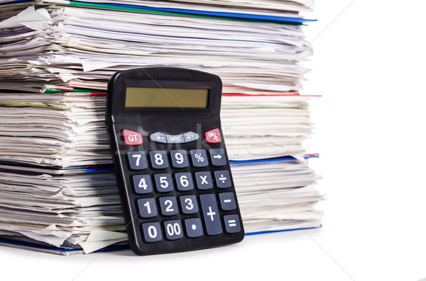 Pile of papers isolated on white Stock photo © Elnur