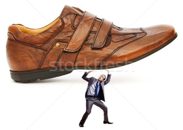 Woman domination concept with shoes and man Stock photo © Elnur
