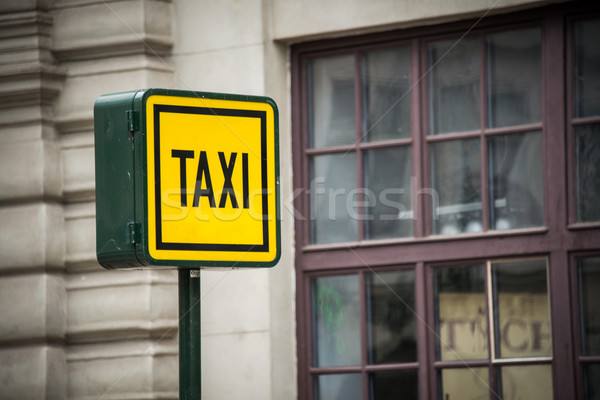 Taxi sign during the daylight hours Stock photo © Elnur