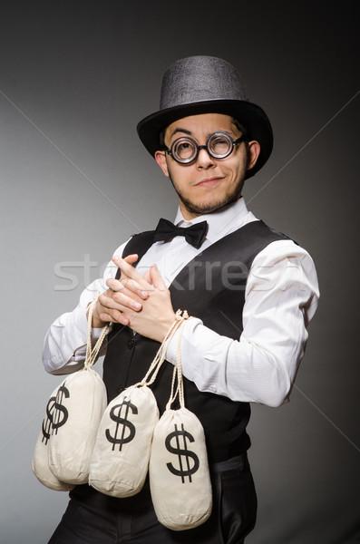 Férfi pénz üzlet biztonság üzletember táska Stock fotó © Elnur