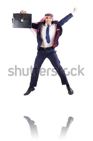 Robber with stolen suitcase and gun Stock photo © Elnur