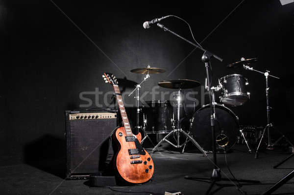 Photo stock: Instruments · de · musique · concert · musique · fond · art