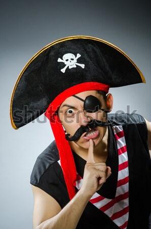 Divertente pirata buio studio mano nero Foto d'archivio © Elnur