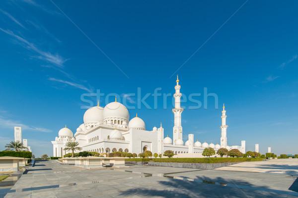 Sheikh Zayed Mosque in Abu Dhabi Stock photo © Elnur