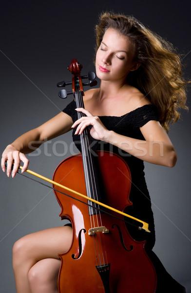 Feminino musical jogador escuro mulher concerto Foto stock © Elnur