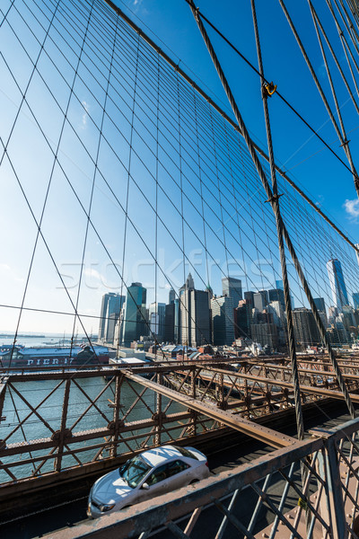 View of lower manhattan from Brooklyn bridge Stock photo © Elnur