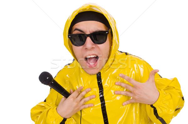 Vicces előadó izolált fehér zene buli Stock fotó © Elnur