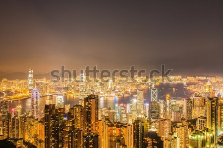 Stock photo: View of Hong Kong during sunset hours