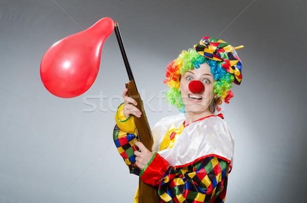 Clown ballon geweer grappig business partij Stockfoto © Elnur