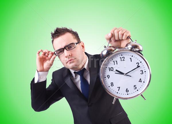 бизнесмен часы градиент служба человека работу Сток-фото © Elnur
